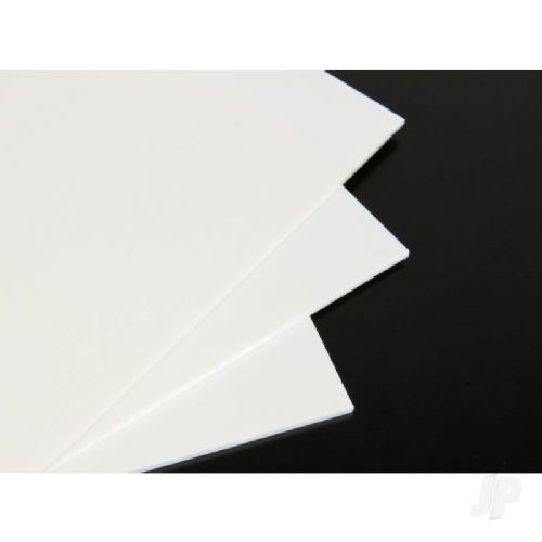 White Plastiglaze 9x12in  30 Thou. ( 0.75mm)